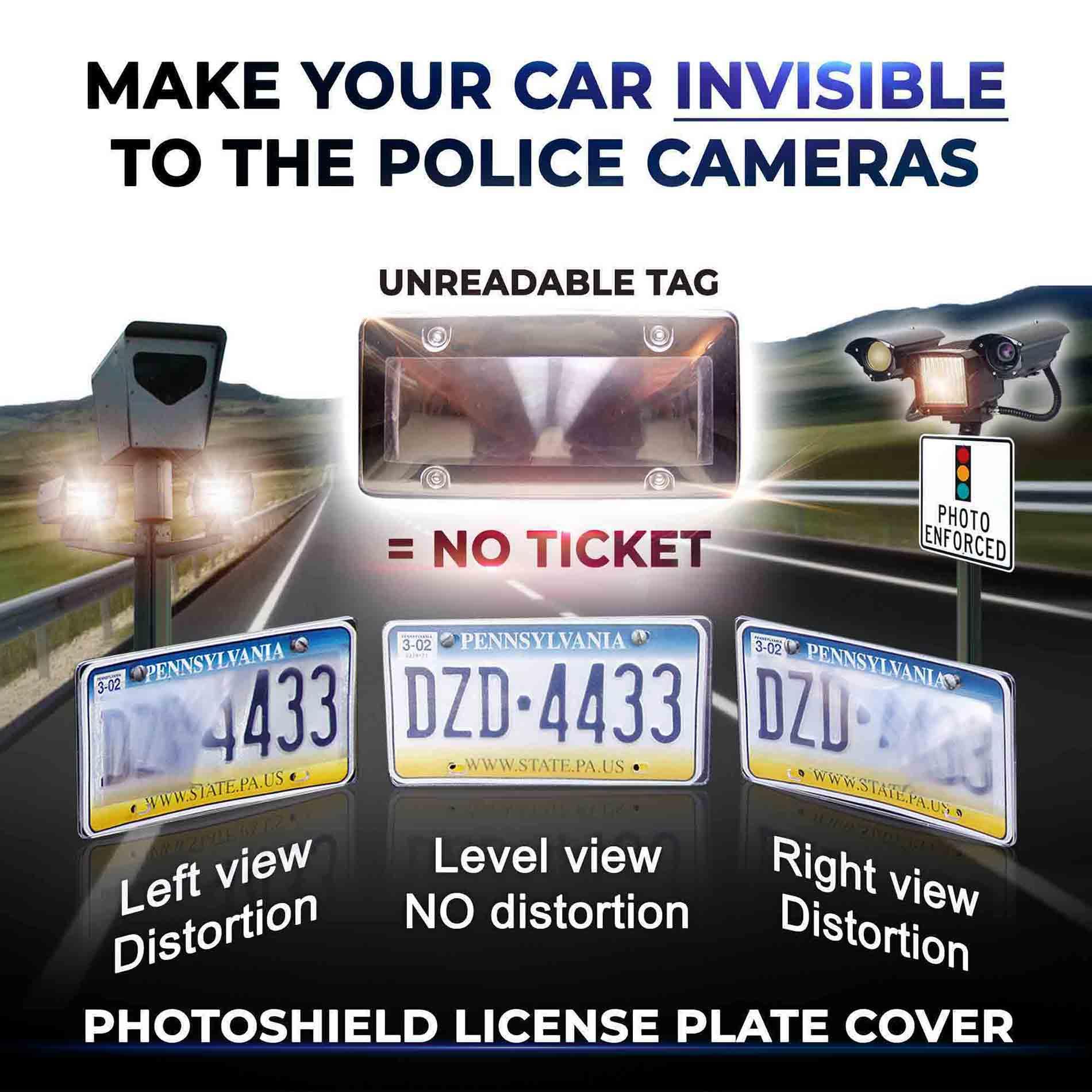 PhotoShield License Plate Cover Anti Speed Camera Cover Tapaffiliate v2